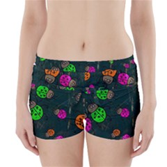 Abstract Bug Insect Pattern Boyleg Bikini Wrap Bottoms