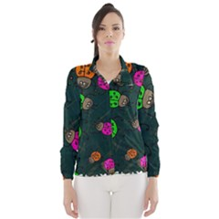 Abstract Bug Insect Pattern Wind Breaker (Women)