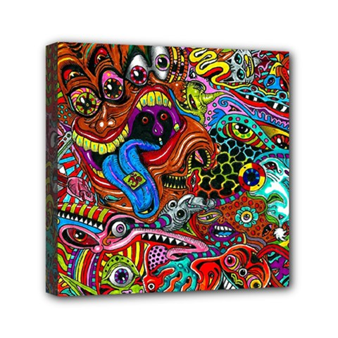 Art Color Dark Detail Monsters Psychedelic Mini Canvas 6  x 6
