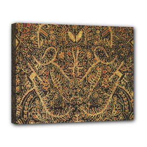 Art Indonesian Batik Canvas 14  x 11