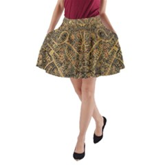 Art Indonesian Batik A-Line Pocket Skirt