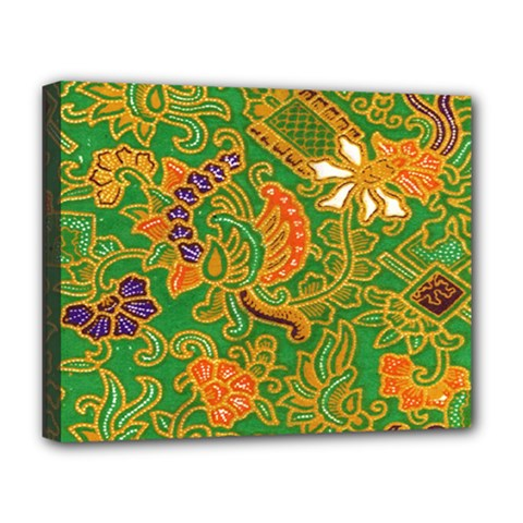 Art Batik The Traditional Fabric Deluxe Canvas 20  x 16
