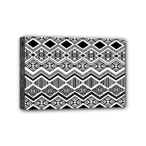 Aztec Design Pattern Mini Canvas 6  x 4