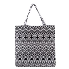 Aztec Design Pattern Grocery Tote Bag