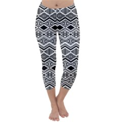 Aztec Design Pattern Capri Winter Leggings