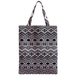 Aztec Design Pattern Zipper Classic Tote Bag