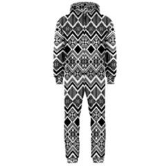 Aztec Design Pattern Hooded Jumpsuit (Men)