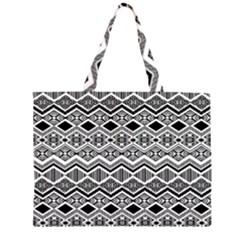 Aztec Design Pattern Large Tote Bag