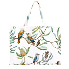 Australian Kookaburra Bird Pattern Large Tote Bag