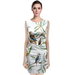 Australian Kookaburra Bird Pattern Classic Sleeveless Midi Dress
