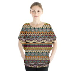 Aztec Pattern Ethnic Blouse