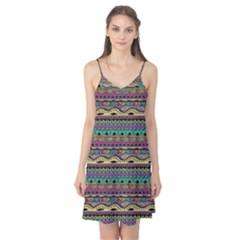 Aztec Pattern Cool Colors Camis Nightgown