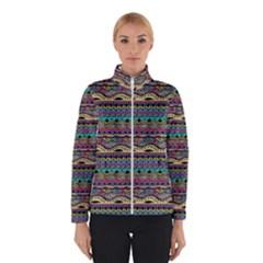 Aztec Pattern Cool Colors Winterwear