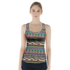 Aztec Pattern Cool Colors Racer Back Sports Top