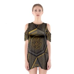 Aztec Runes Shoulder Cutout One Piece