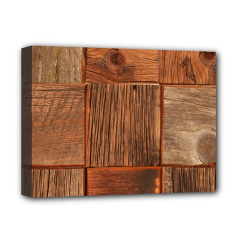 Barnwood Unfinished Deluxe Canvas 16  x 12