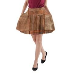 Barnwood Unfinished A-Line Pocket Skirt
