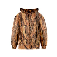 Bark Texture Wood Large Rough Red Wood Outside California Kids  Zipper Hoodie