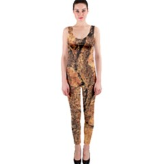 Bark Texture Wood Large Rough Red Wood Outside California OnePiece Catsuit