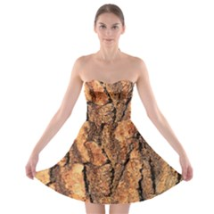Bark Texture Wood Large Rough Red Wood Outside California Strapless Bra Top Dress