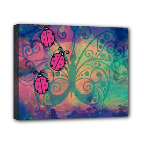 Background Colorful Bugs Canvas 10  x 8