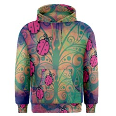 Background Colorful Bugs Men s Pullover Hoodie
