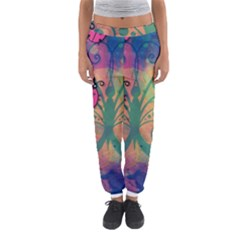 Background Colorful Bugs Women s Jogger Sweatpants