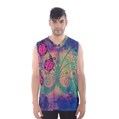 Background Colorful Bugs Men s Basketball Tank Top