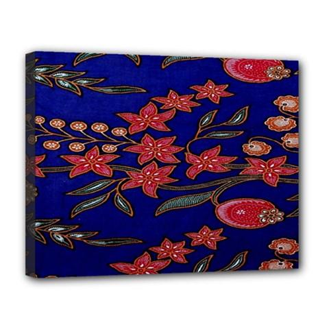 Batik  Fabric Canvas 14  x 11