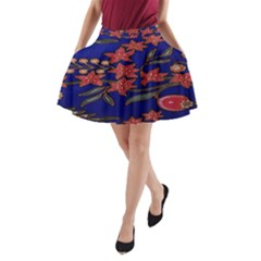 Batik  Fabric A-Line Pocket Skirt