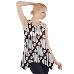 Batik Art Patterns Side Drop Tank Tunic