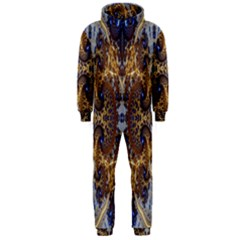 Baroque Fractal Pattern Hooded Jumpsuit (Men)
