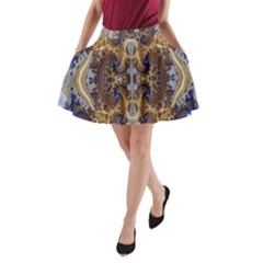Baroque Fractal Pattern A-Line Pocket Skirt