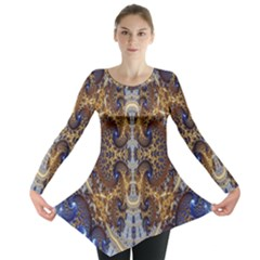 Baroque Fractal Pattern Long Sleeve Tunic