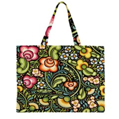Bohemia Floral Pattern Large Tote Bag