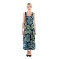 Blue Lotus Sleeveless Maxi Dress
