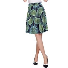 Blue Lotus A-Line Skirt