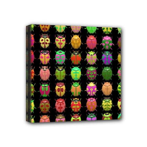 Beetles Insects Bugs Mini Canvas 4  x 4