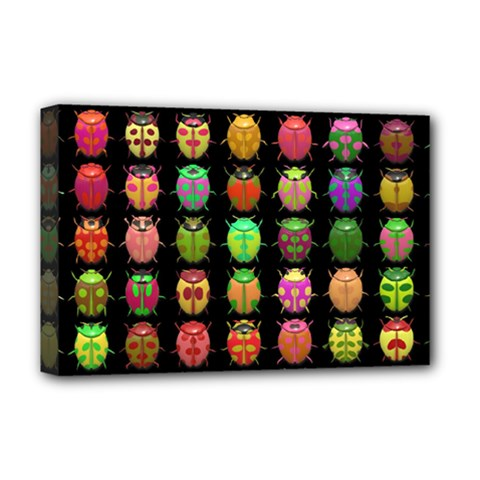 Beetles Insects Bugs Deluxe Canvas 18  x 12