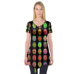 Beetles Insects Bugs Short Sleeve Tunic