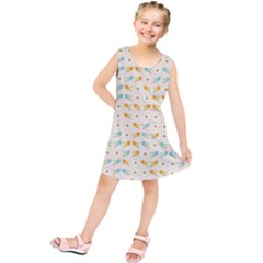 Birds And Daisies Kids  Tunic Dress