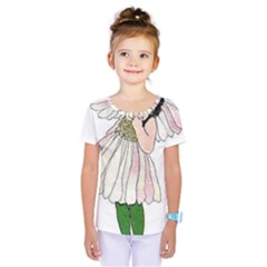 Daisy Vintage Flower Child Cute Funny Floral Little Girl Kids  One Piece Tee