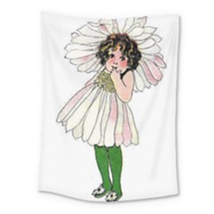 Daisy Vintage Flower Child Cute Funny Floral Little Girl Medium Tapestry