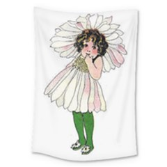 Daisy Vintage Flower Child Cute Funny Floral Little Girl Large Tapestry