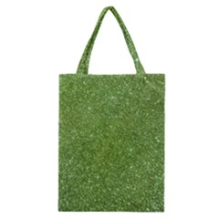 Green Glitter Abstract Texture Classic Tote Bag