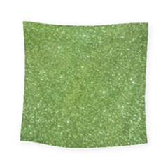 Green Glitter Abstract Texture Square Tapestry (small)