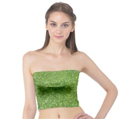 Green Glitter Abstract Texture Print Tube Top