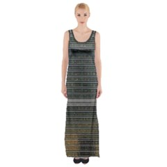 Building Pattern Maxi Thigh Split Dress