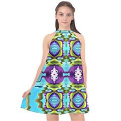 Coral Sea Unicornstyle Annabellerockz Halter Neckline Chiffon Dress