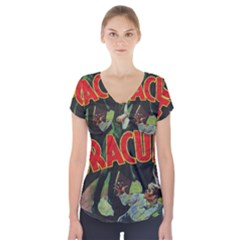 Dracula Short Sleeve Front Detail Top